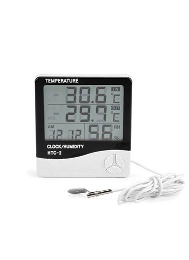 Techmaster Techmaster Htc2 Dijital Termometre Saat Alarm Nem ÖlÇer Renkli